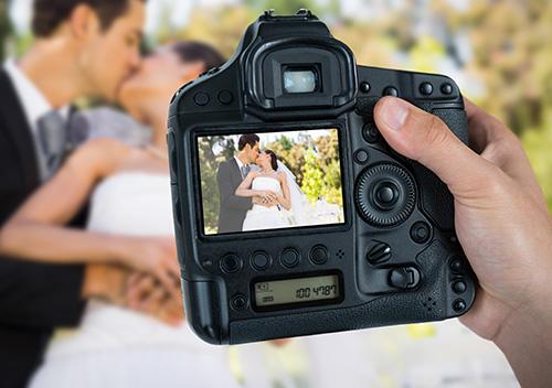 photographer at a wedding